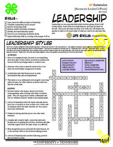 Leadership Worksheet