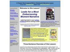 Leads for a Most Embarrassing Moment Lesson Plan