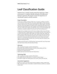 Leaf Classification Guide Lesson Plan