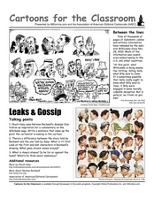leaks and gossip examining wikileaks through political cartoons 9th 12th grade worksheet. Black Bedroom Furniture Sets. Home Design Ideas