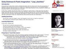 """Leap, Plashless"": Emily Dickinson & Poetic Imagination Lesson Plan"