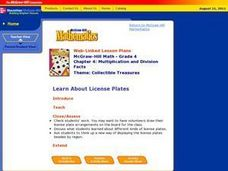Learn About License Plates Lesson Plan