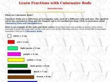 math worksheet : learn fractions with cuisenaire rods 3rd  6th grade lesson plan  : Cuisenaire Rods Worksheets Fractions