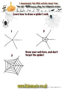 Learn How To Draw a Spider's Web Worksheet