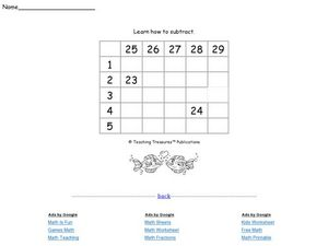 Learn How to Subtract 2 Worksheet