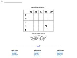 Learn How to Subtract Worksheet