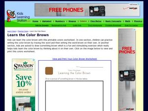 Learn the Color Brown Worksheet