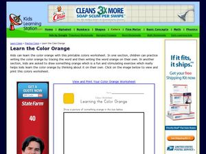 Learn the Color Orange Worksheet