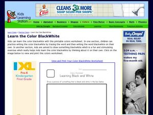 Learn the Colors Black and White Worksheet