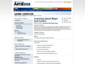 Learning about Maps and Colors Lesson Plan
