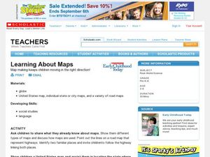Learning About Maps Lesson Plan