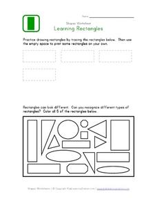 Learning About Rectangles Worksheet