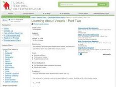 Learning About Vowels - Part Two Lesson Plan