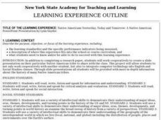 Learning Experience Outline Lesson Plan