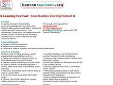 Learning Festival ~ Book Buddies Visit High School Lesson Plan