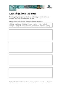 Learning From the Past Worksheet