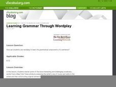 Learning Grammar Through Wordplay Lesson Plan
