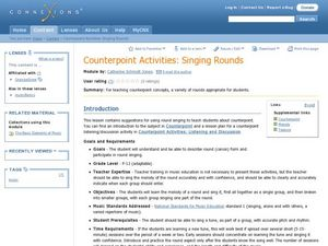 Learning How to Sing Rounds Lesson Plan