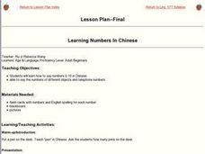 Learning Numbers In Chinese Lesson Plan