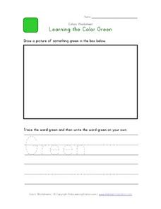Learning the Color Green Worksheet