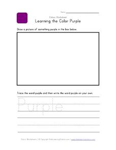 Learning the Color Purple Worksheet