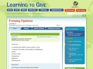 Learning to Give Lesson Plan