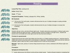 Learning Words Lesson Plan