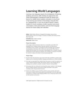 Learning World Languages Lesson Plan