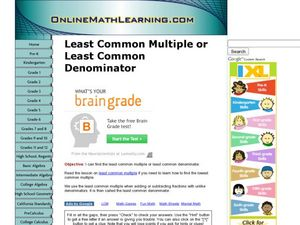 Least common multiple worksheets 6th grade free