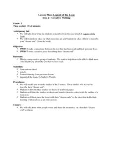 Legend of the Loon:  Day 2 - Creative Writing Lesson Plan