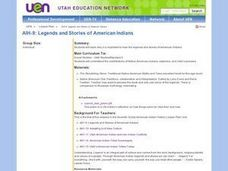 Legends and Stories of American Indians Lesson Plan