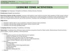 Leisure Time Activities Lesson Plan