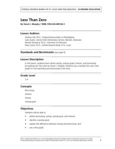 LESS THAN ZERO Lesson Plan