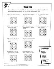 Lesson 15 Vocabulary Word Find Worksheet