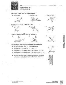 Lesson 2.2 Practice B: Angle Measure Worksheet