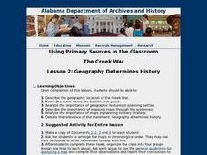 Lesson 2: Geography Determines History Lesson Plan