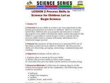 LESSON 2 Process Skills in Science for Children: Let us Begin Science Lesson Plan