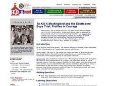 Lesson 2-Profiles in Courage: To Kill A Mockingbird and the Scottsboro Boys Trial Lesson Plan