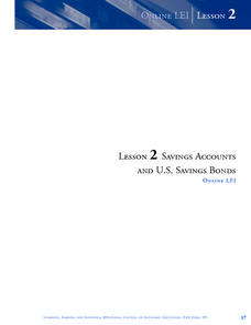 Lesson 2:  Savings Accounts and U.S. Savings Bonds Lesson Plan