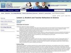 Lesson 2, Student and Teacher Behaviors in Science Lesson Plan