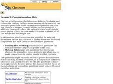 Lesson 3: Comprehension Aids Lesson Plan