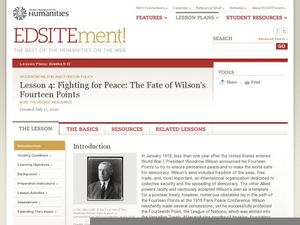 Lesson 4: Fighting for Peace: The Fate of Wilson's Fourteen Points Lesson Plan