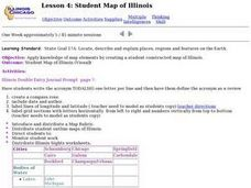Lesson 4: Student Map of Illinois Lesson Plan