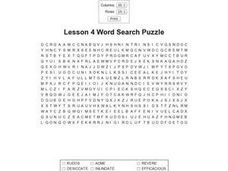 Lesson 4 Word Search Worksheet