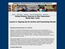 Lesson 5:  Signing Up for Action and Sustaining Morale Lesson Plan