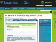 LESSON 6:  Is There a Stone in My Soup? (K-2) Lesson Plan