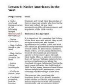 Lesson 6: Native Americans in the West Lesson Plan