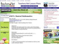 Lesson Exchange: Musical Mathematics (other, Music) Lesson Plan