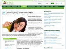 Lesson Mystery: The Game is Afoot Lesson Plan