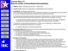 Lesson Plan 17.  How to create a PowerPoint Presentation Lesson Plan